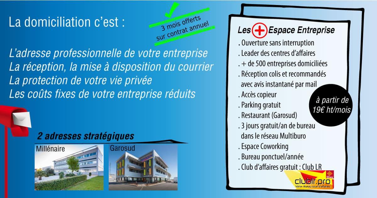 Domiciliation Montpellier Espace Entreprise